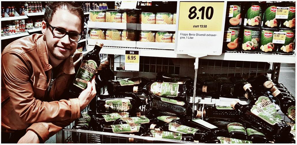 Filippo Berio Olivenöle in einem Coop Supermarkt. Trotz Negativurteil wird das Produkt weiterverkauft.