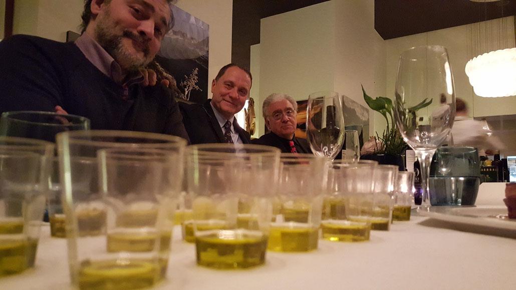 Marco Oreggia, Riccardo Scarpellini und Gino Celletti zu Gast bei Armin Egli im Marlin.