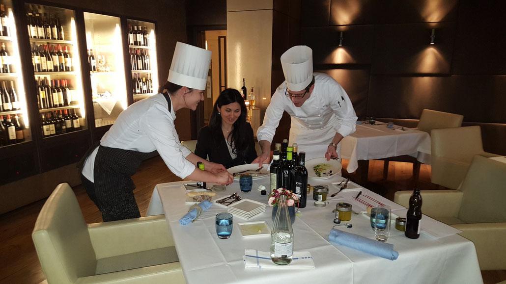 """Sophia Amariotaki Streich von der evoo ag: """"Es macht Spass, zu sehen, dass Küchenchefs wie Egli die Gastronomie weiterentwickeln und durch und durch auf erstklassige Produkte setzen."""""""