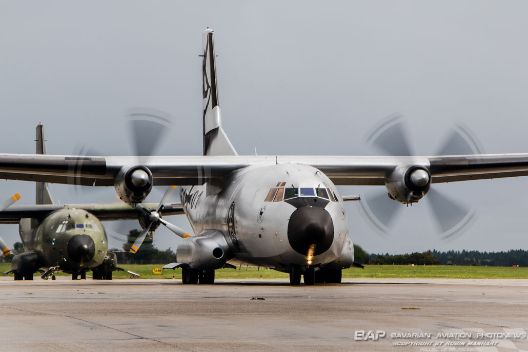 Transall C-160D 51+01 60th Anniversary c/s short prior taxing to the Active Runway / ETSA 12.Sep.17