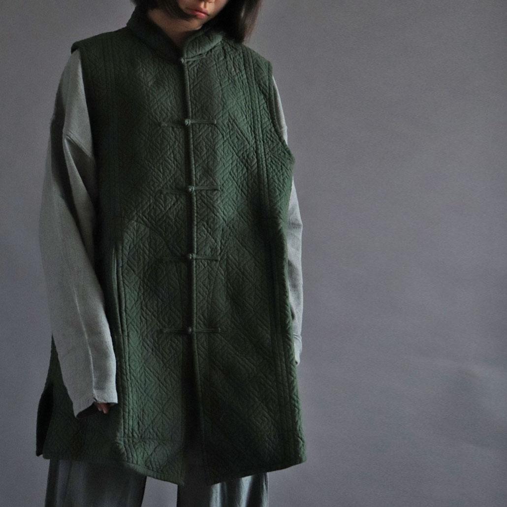 ヂェン先生の日常着 綿入れチャイナベスト