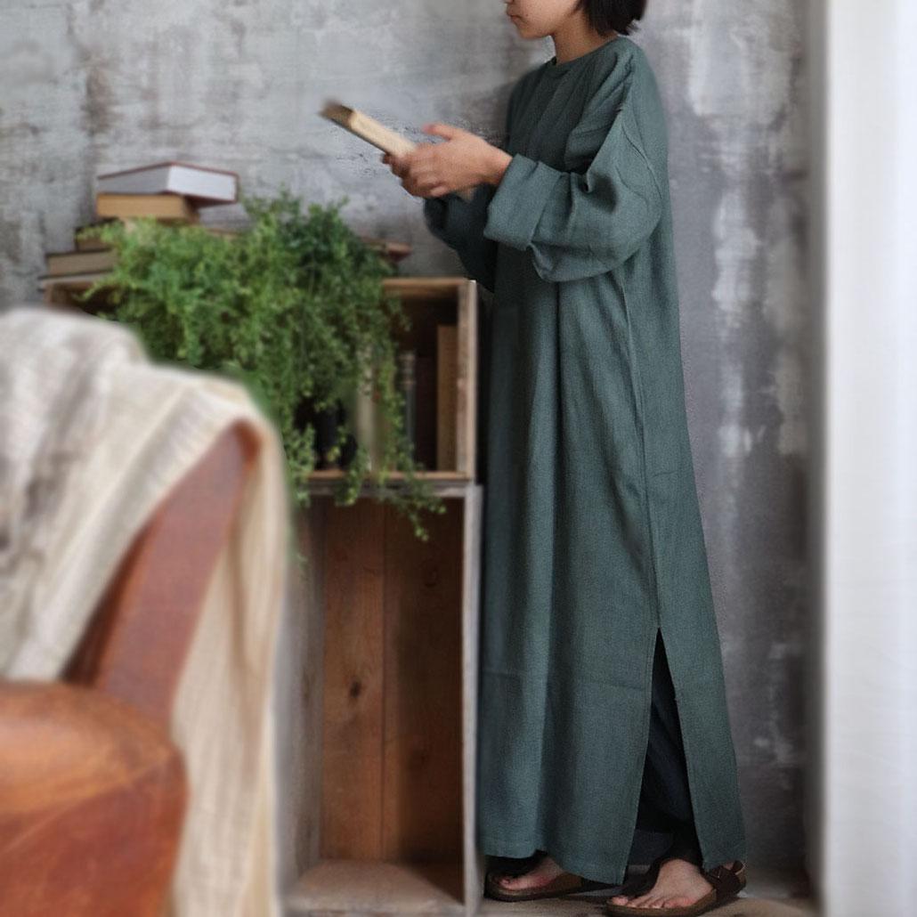 ヂェン先生の日常着 長袖ワンピース イメージ