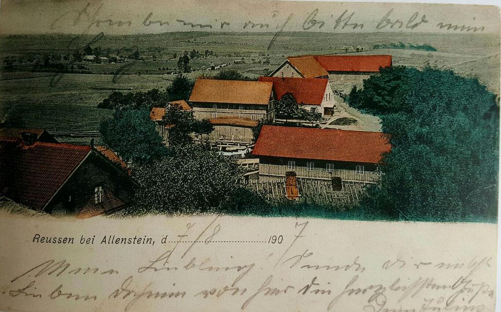 Reußen 1907 (Postkarte)