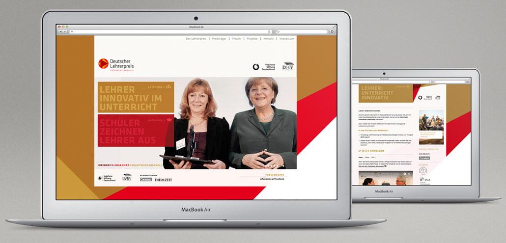 Webseite Deutscher Lehrerpreis