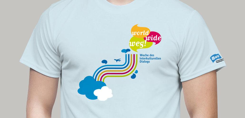 """""""world, wide, weg"""" – Kampagnen T-Shirt"""