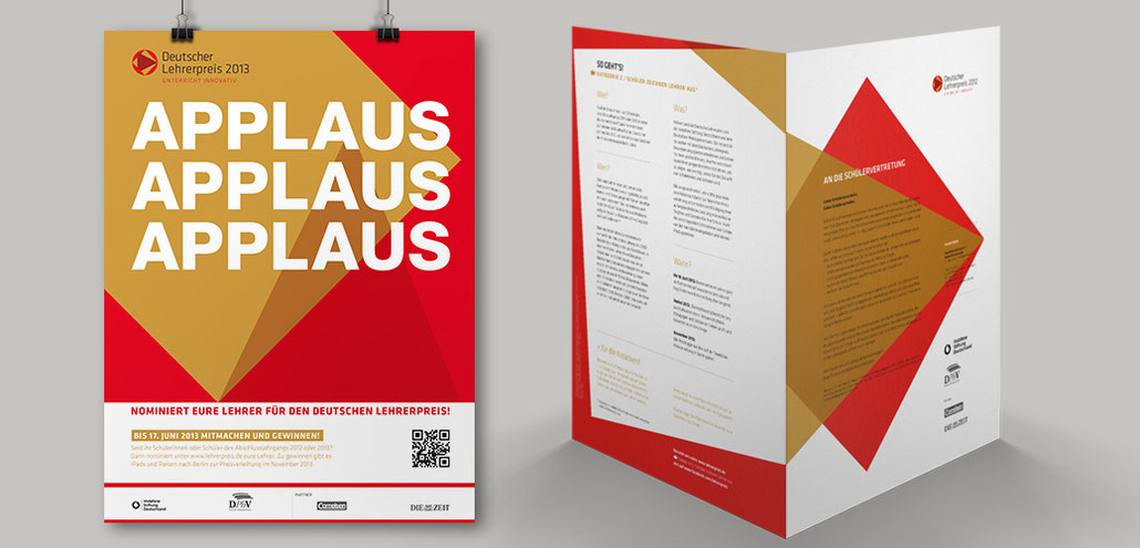 Plakat, Broschuere Deutscher Lehrerpreis