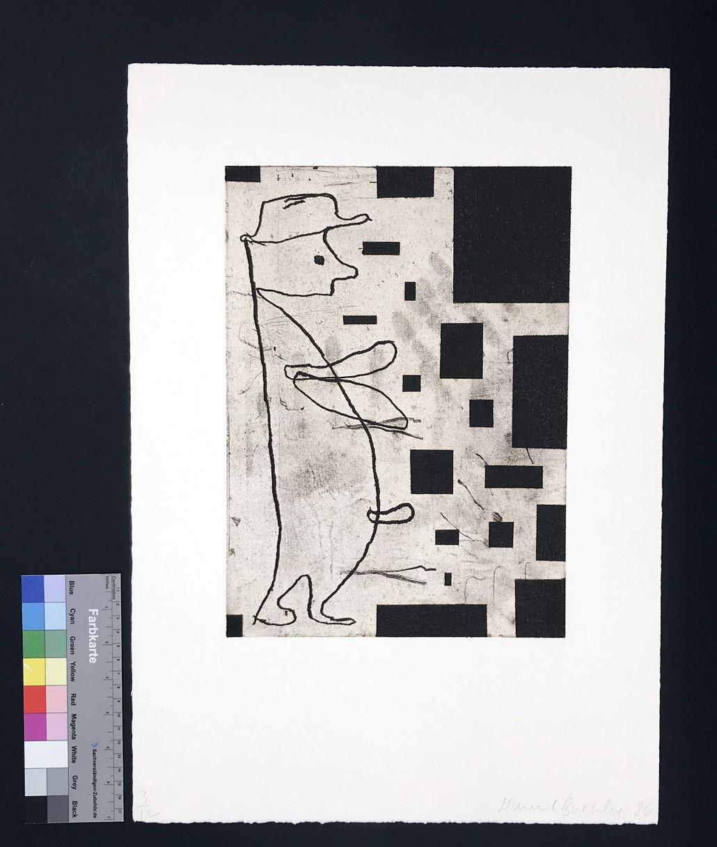 Donald Baechler art print 1980s