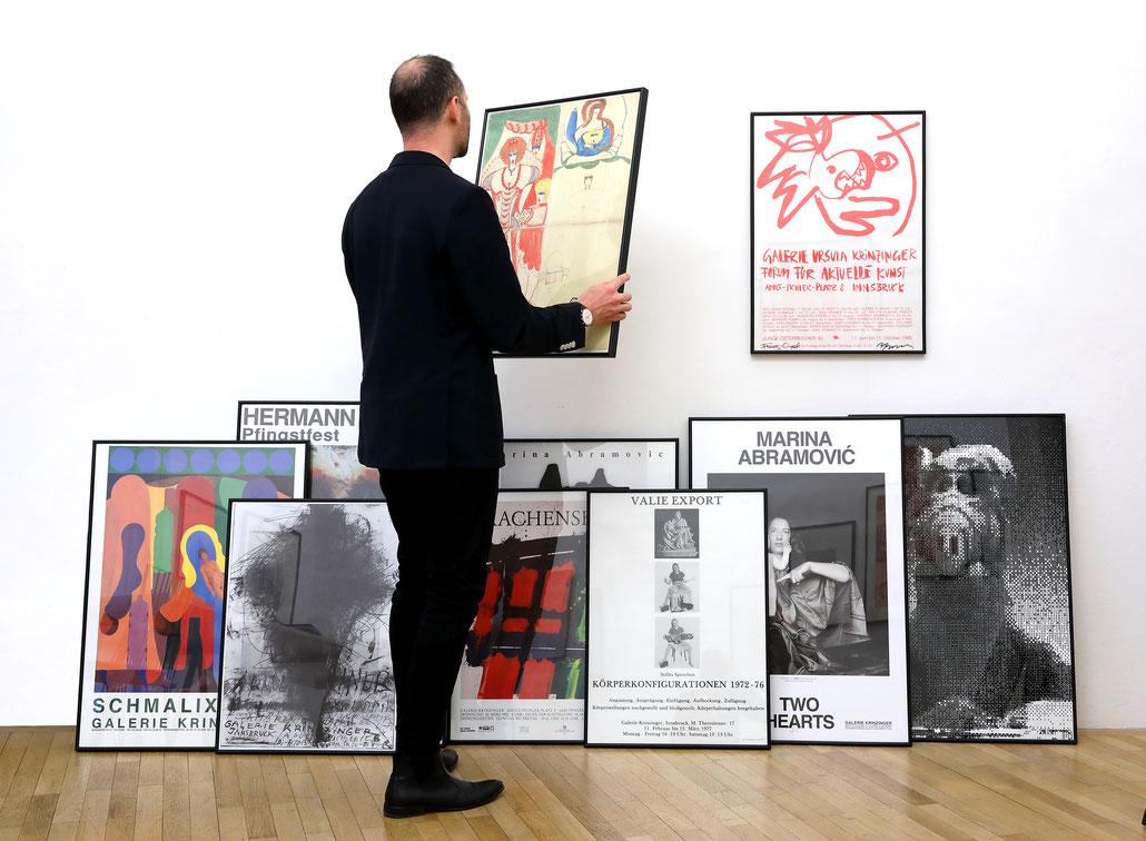 Kunst Plakate / Art Poster Shop Vienna. Galerie Krinzinger Wien.