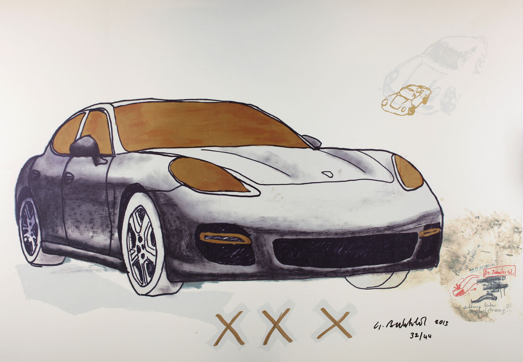 Porsche Print on paper (graphic design by Gottfried Bechtold) Edition