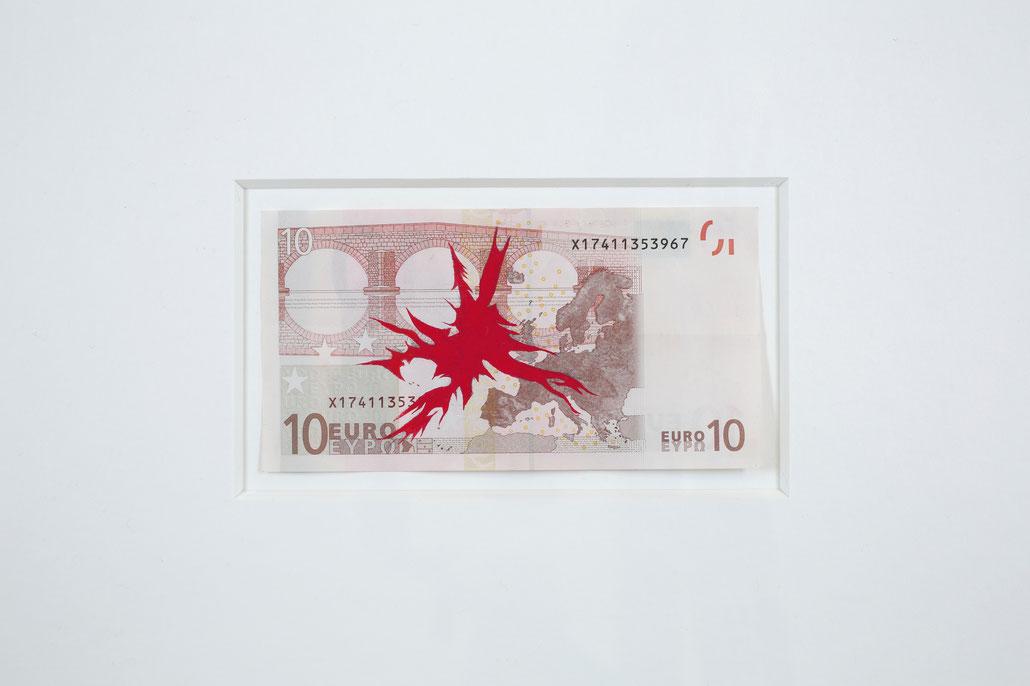 Christian Vind Kunst artwork Euro Banknote