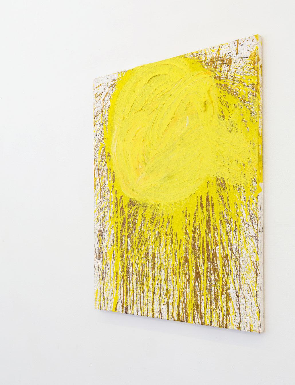 Hermann Nitsch Kunst kaufen Original Schüttbild in der Wiener Kunst Galerie Krinzinger