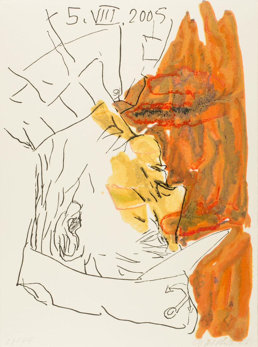 Georg Baselitz Edition Imperia Holzschnitt woodcut