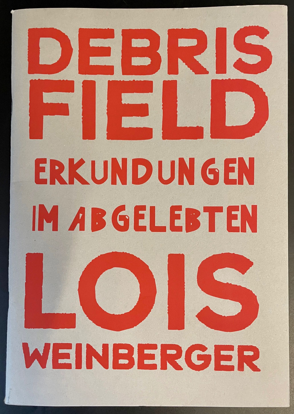 Lois Weinberg Debris Field Museum Tinguely Buch catalogue