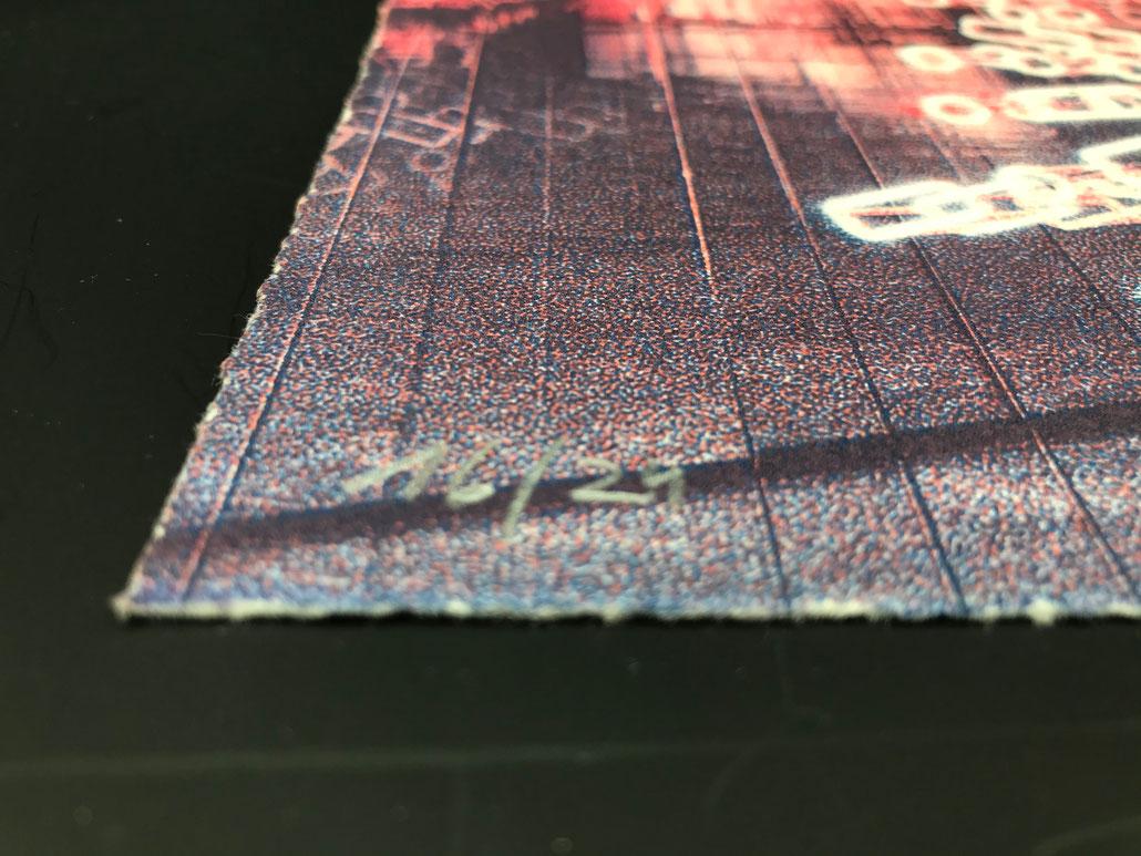 Brigitte Kowanz Edition A patient Heliogravure art print