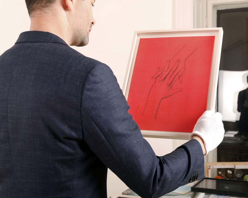 Ulrike Lienbacher Kunst artwork hands Matthias Bechtle Galerie Krinzinger