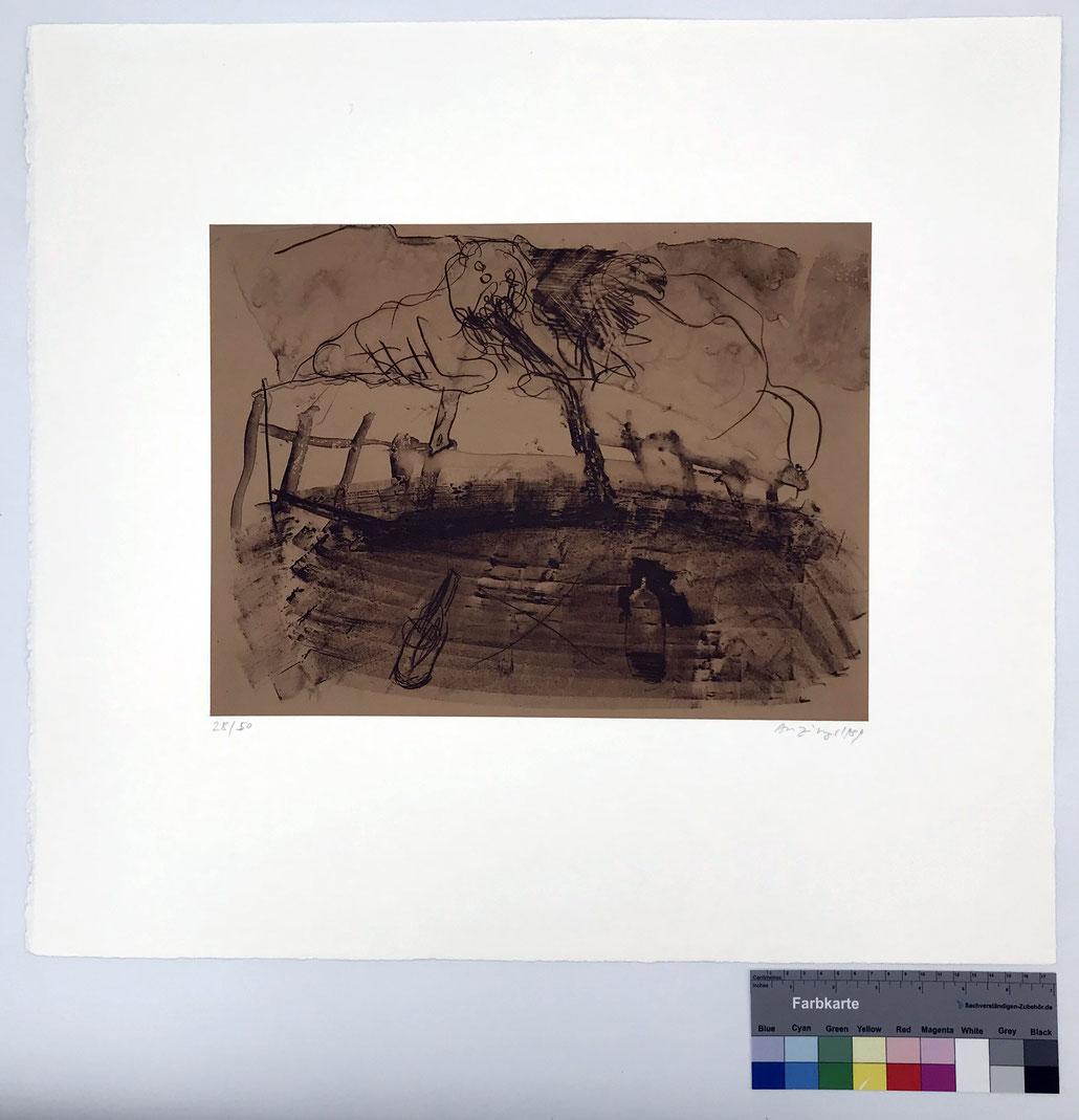 Siegfried Anzinger Edition 1980er Jahre