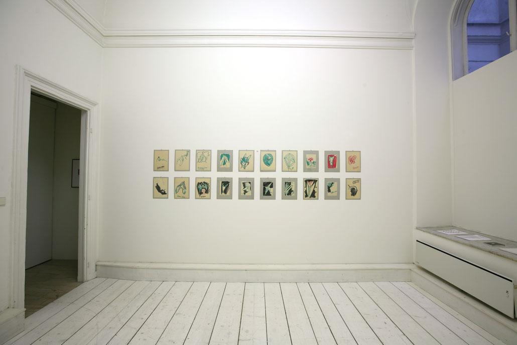Bernhard Blume Kunst Ausstellung / art exhibition Künstler Bernhard Blume.