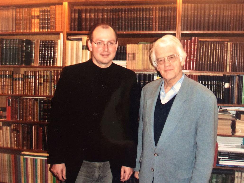 Privates Treffen mit Lothar Schmidt, Hauptschiedsrichter des WM-Kampfes Bobby Fischer gegen Boris Spasski, in seinem Privathaus in Bamberg