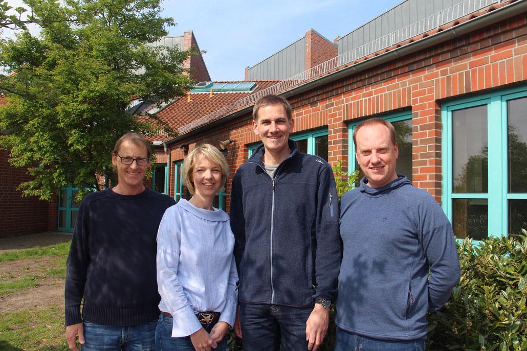 Der Vorstand des Fördervereins: Thomas Lenthe, Maren Schernat, Arne Wirth, Oliver Bleifuß (von links)