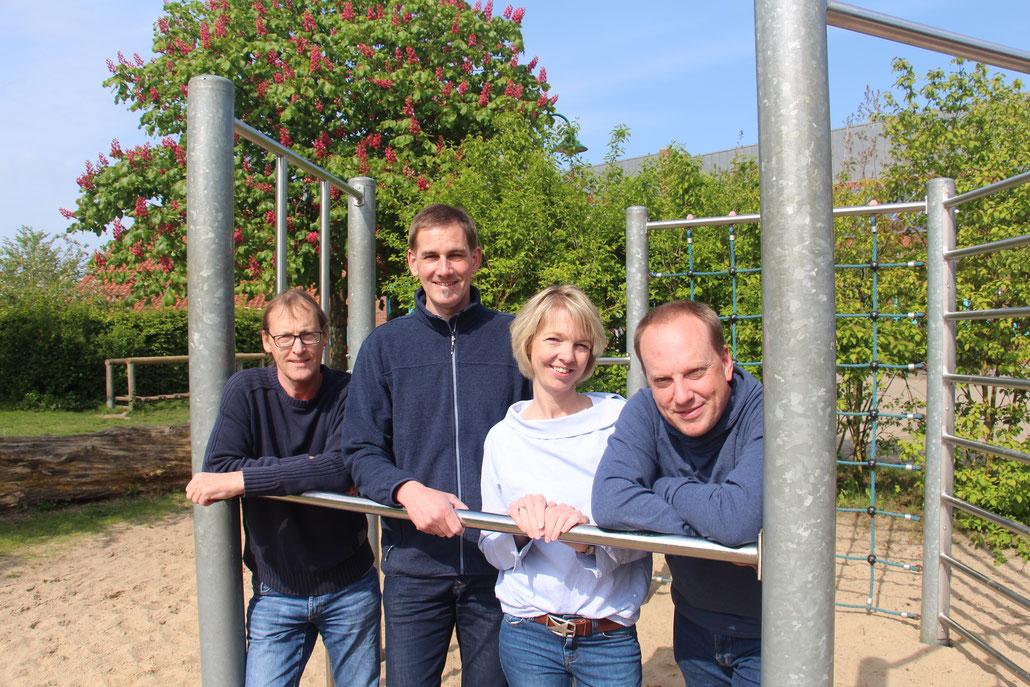 Der Vorstand des Fördervereins: Thomas Lenthe, Arne Wirth, Maren Schernat, Oliver Bleifuß (von links)