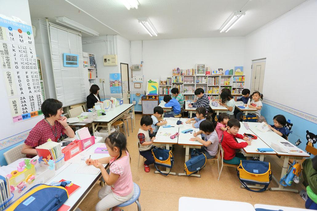 公文式鶴見中央2丁目教室の学習風景