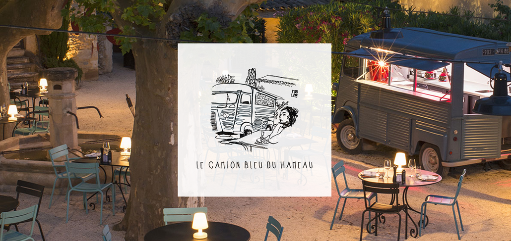 The Camion Bleu du Hameau, summer food truck in Paradou