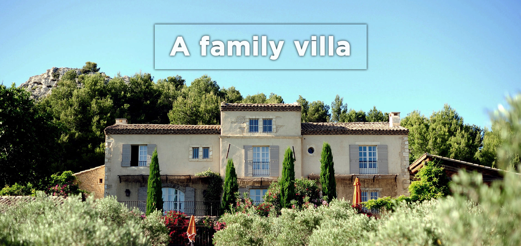 A family villa for rent in south of France
