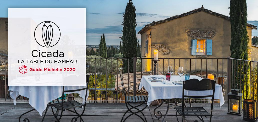 Cicada, la Table du Hameau, 1 Michelin star restaurant in Paradou