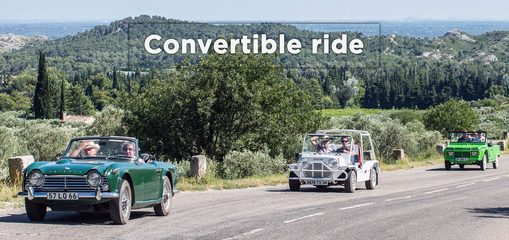 A convertible ride in Alpilles
