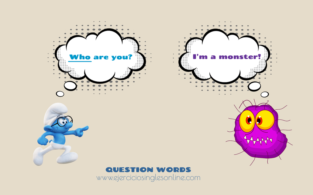 Question words en inglés.