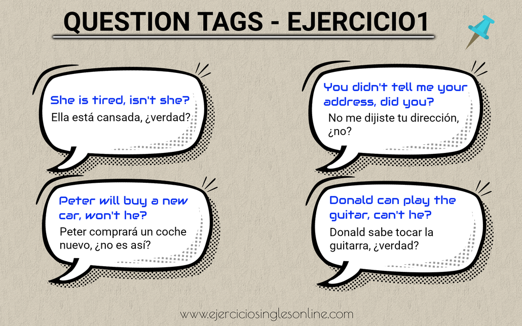 Question tags en inglés.