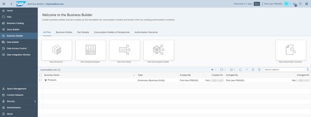 SAP Data Warehouse Cloud Create Authorization Scenario