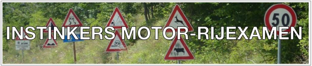 INSTINKERS MOTOR-RIJEXAMEN