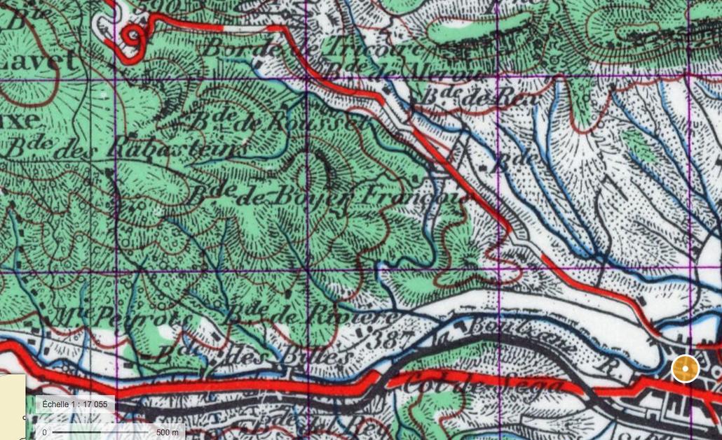 Carte 1950 (géoportail;gouv.fr)