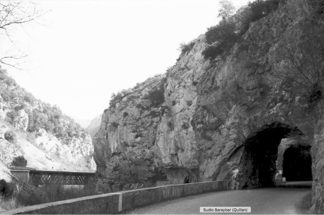 Petit tunnel détruit lors de la construction du grand
