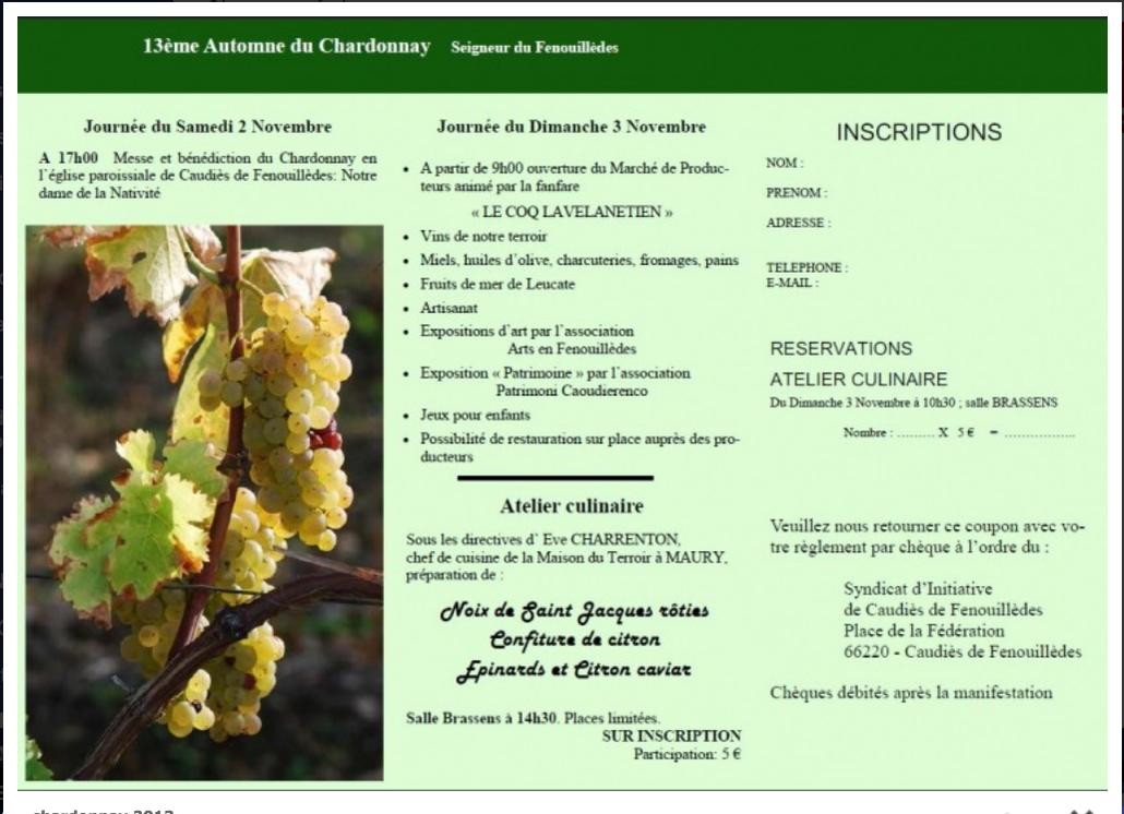 Automne du Chardonnay 2013