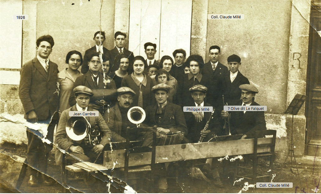 1926 Musiciens de Caudiès avec nous
