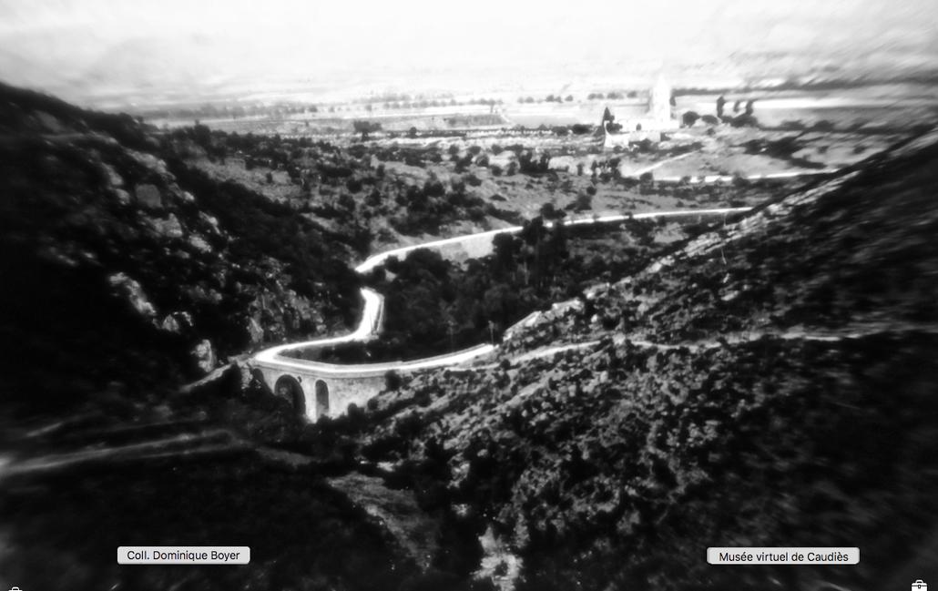 Route de Fenouillet avec Pont sur le Saint Jaume en 1909