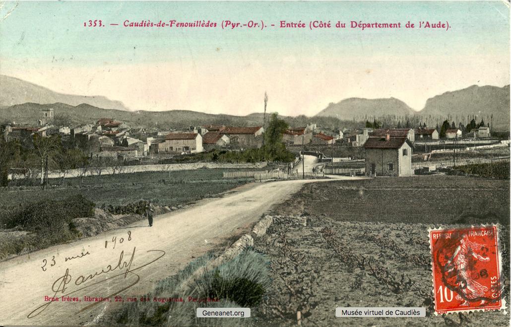 Entrée à Caudiès, côté Aude