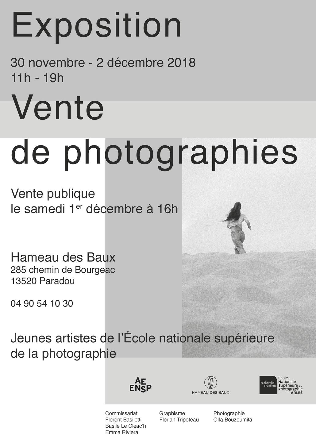 Exposition et vente de photographies des étudiants de l'ENSP d'Arles
