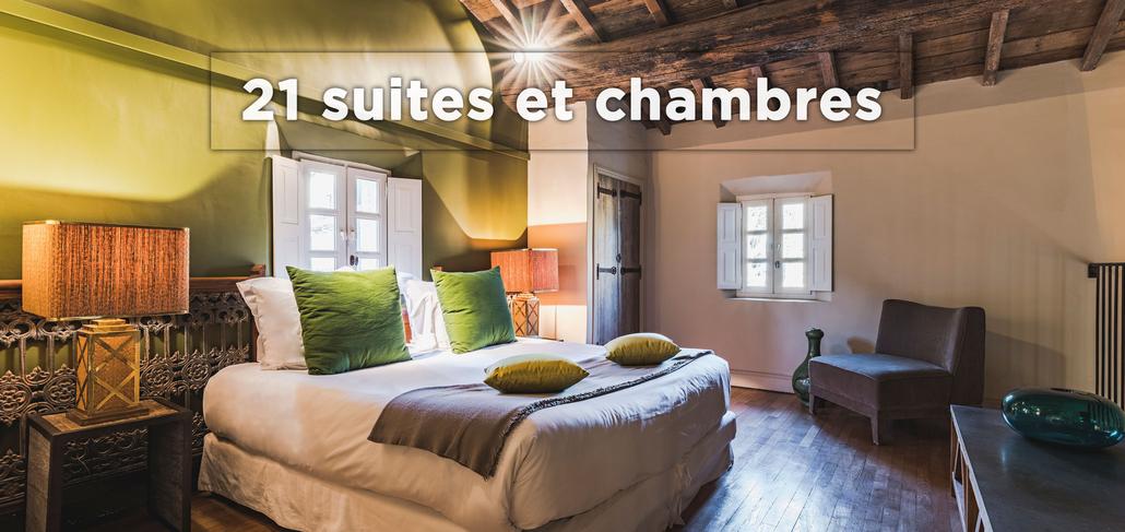 Hôtel 5 étoiles de 21 suites et chambres ouverte sur la nature au coeur de la Provence