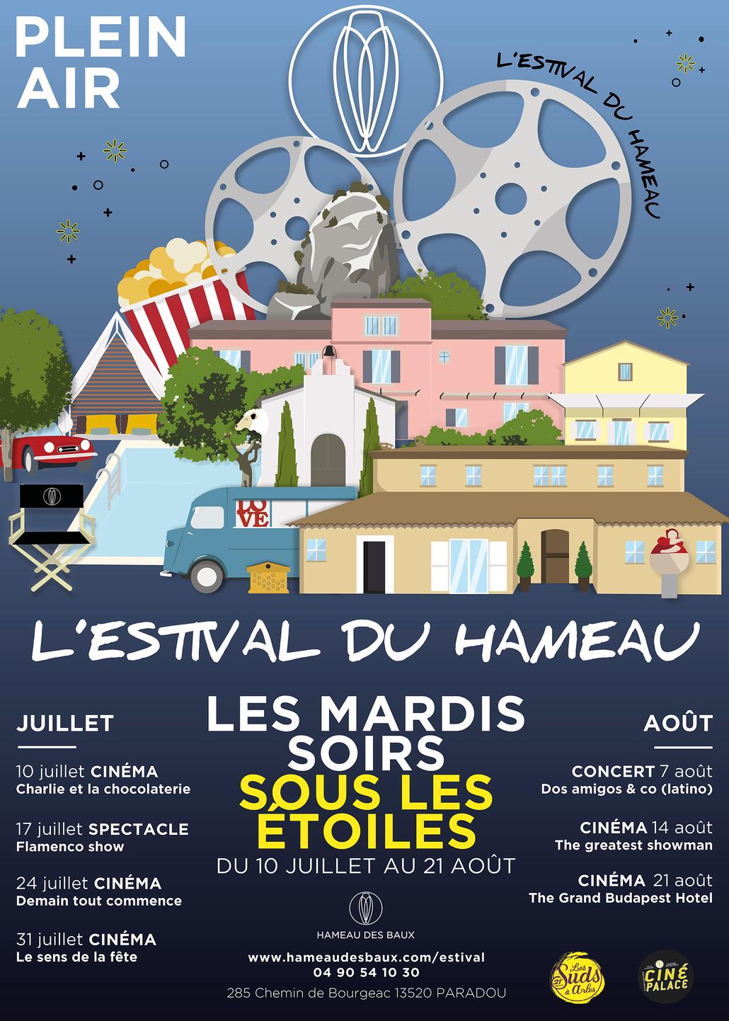 L'Estival du Hameau, cinéma et concert en plein air à Paradou