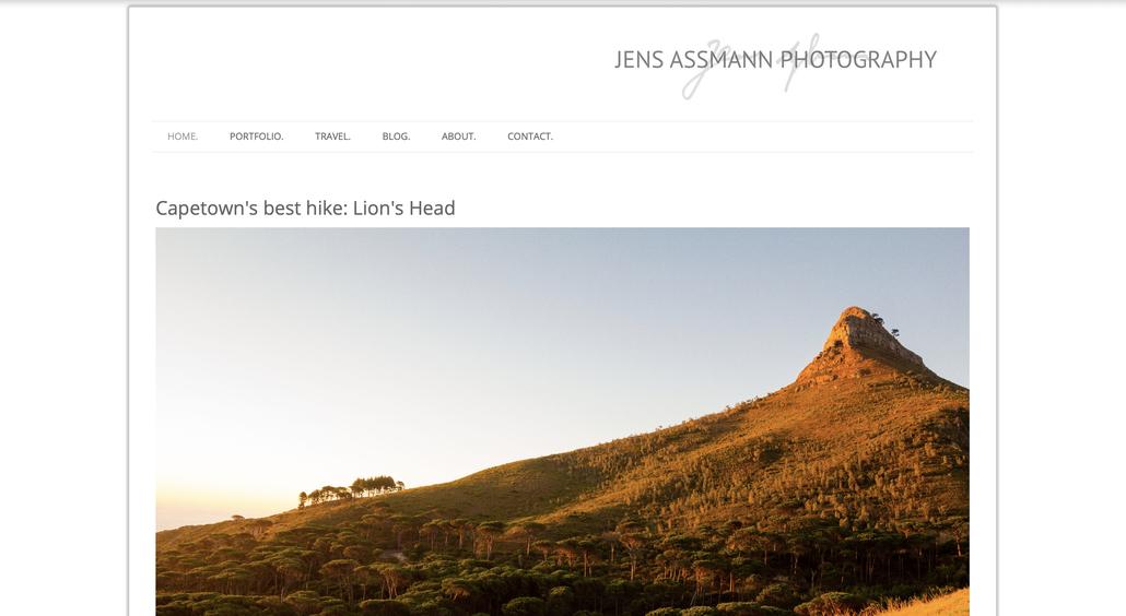 Screenshot von www.jensassmann.com