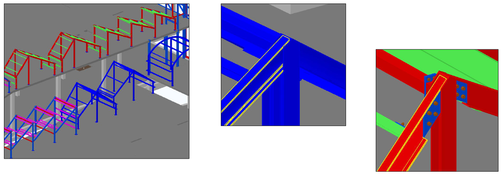Diseño de detalle de estructuras metálicas bajo envolvente de arquitectura