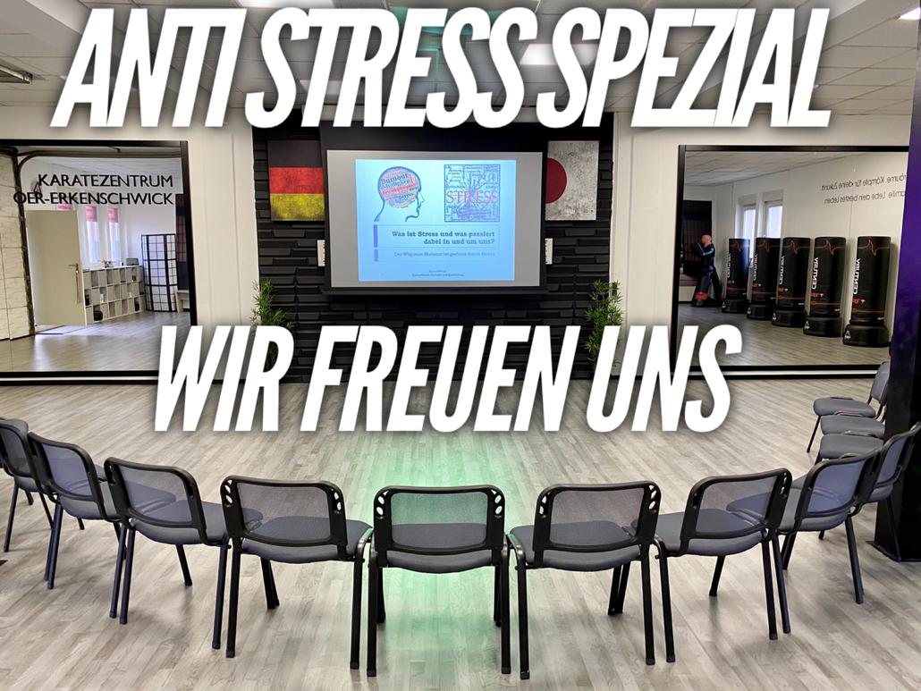 Keinen Stress bitte: In den Räumen des Karatezentrums Oer-Erkenschwick fand am 2. Februar 2020 ein Anti-Stress-Seminar statt.