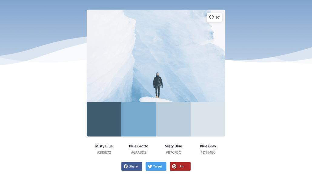 palette de couleurs pour son site Internet