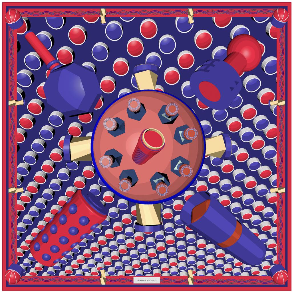 Kunst Seidentuch / art silk scarf Hanakam Schuller Design