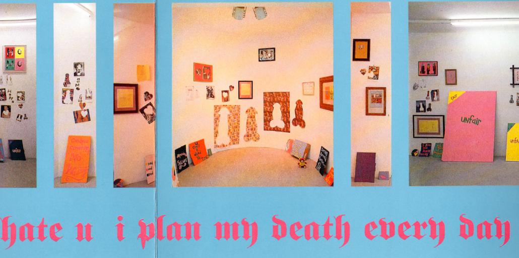 Candyass - Cary Leibowitz exhibition view 1991 (Galerie Krinzinger Vienna).