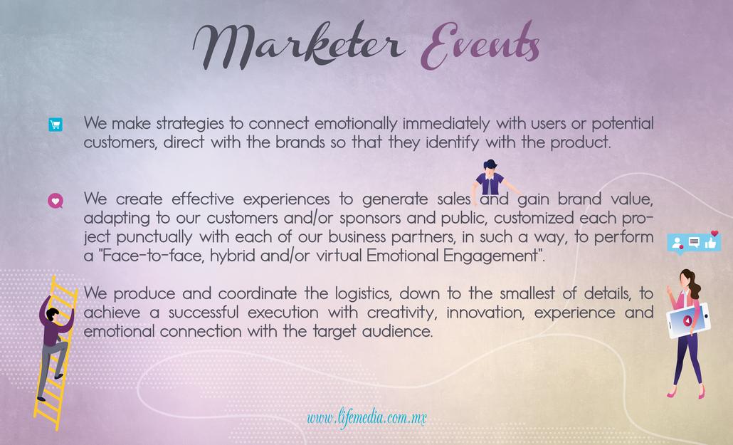 MARKETER EVENTS EVENTOS #experiencias #activaciones #btl #experienciasdiscruptivas