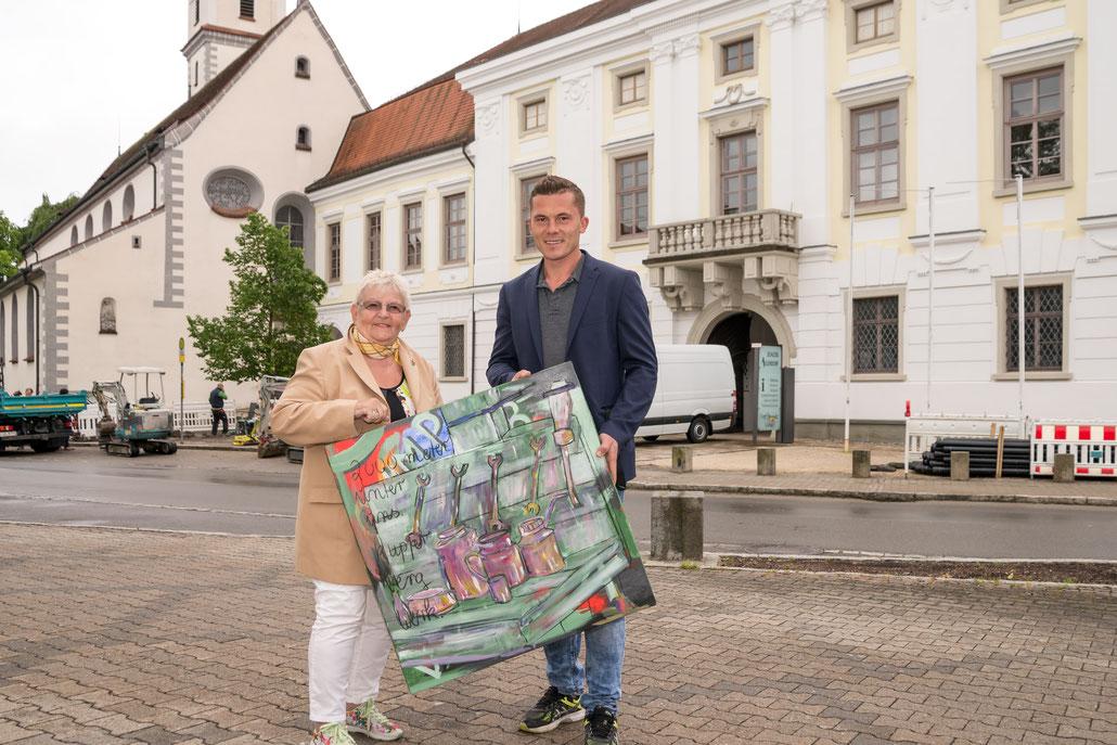 Lore Kraus-Kiechle, Kunst, Malerei, Feininger, Manuel Feininger, Aulendorf, Schloss, Ausstellung, Ritter, Kunstwerk, Fotograf